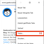 android website teilen