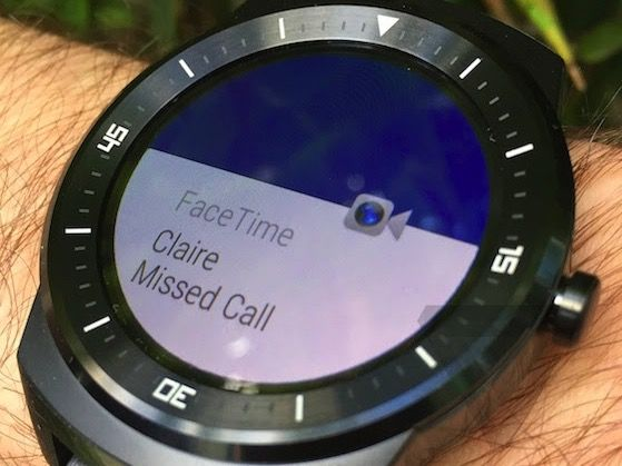 Android Wear FaceTime (TheVerge)