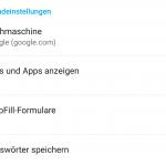 android tabs nicht als apps darstellen